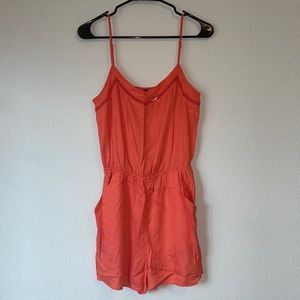 Divided by H&M Coral Romper